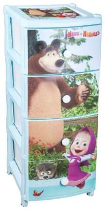 АЛЬТЕРНАТИВА Комод для девочек Маша и Медведь, голубой М7252
