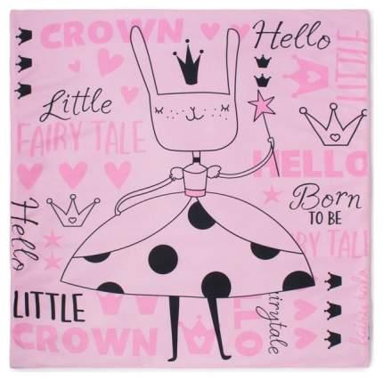 "Плед ""Крошка Я"" Little crown, 70х80 см, розовый Крошка Я"