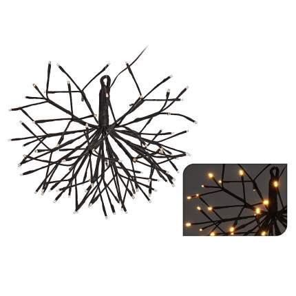Koopman Светодиодный Ежик, темно-коричневый, 45 см, 96 ТЕПЛЫЕ БЕЛЫЕ лампы AXF201230