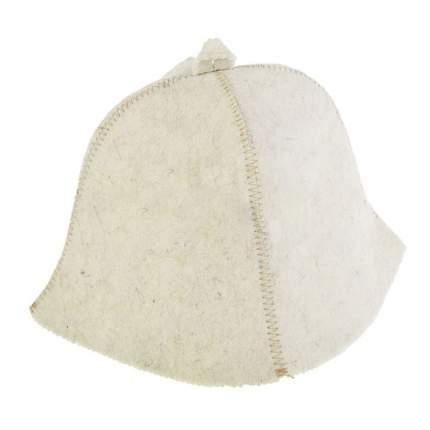 Шапка банная Эконом (белая) Rusher шв079