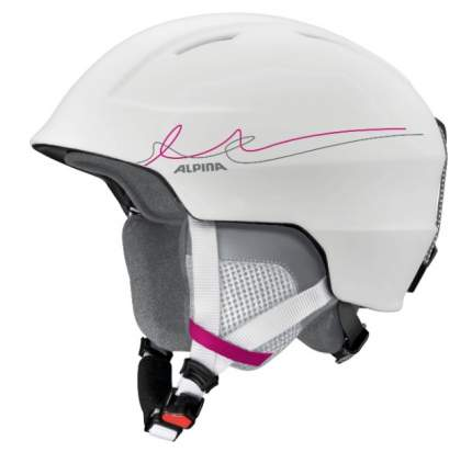 Горнолыжный шлем Alpina Chute 2019, белый/розовый/серый, M