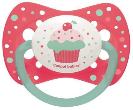 Пустышка Canpol Cupcake симметричная, силик., арт. 23/284, 18+ мес., цвет розовый