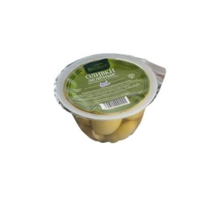 Оливки ВкусВилл зеленые с чесноком 120 г