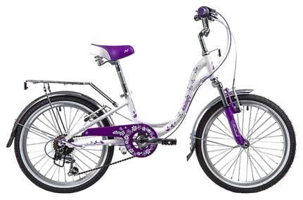 """Велосипед Novatrack """"Butterfly"""" (цвет: белый/фиолетовый, 20"""")"""