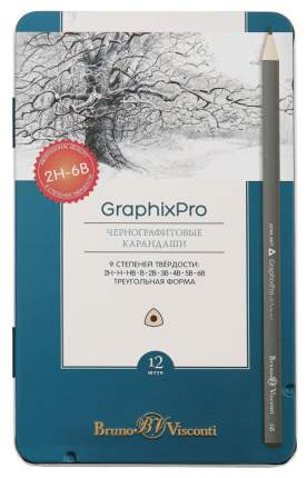 Карандаши чернографитные Bruno Visconti Graphic Pro 21-0009 12 шт