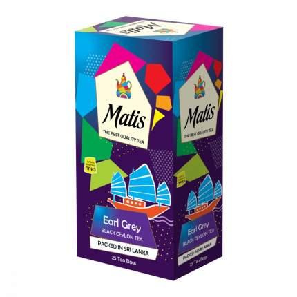 Чай Matis Бергамот черный с добавками 25 пакетиков