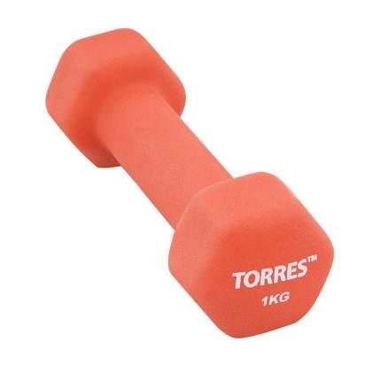 Гантель неопреновая Torres PL55011 1 кг 1 кг