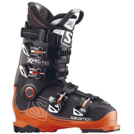 Горнолыжные ботинки Salomon X Pro 130 2018, black/orange/anthracite, 26.5