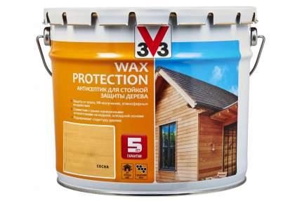 Пропитка для дерева V33 Wax Protection 9 л сосна