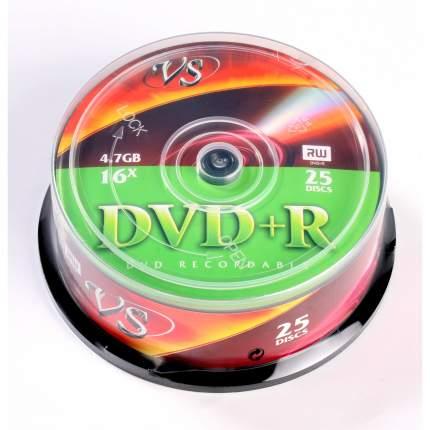Диски DVD+R VS 16x 4.7Gb CakeBox 25шт