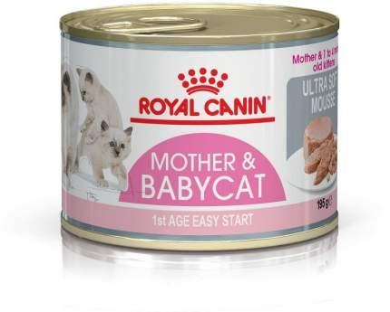 Консервы для котят ROYAL CANIN Mother&Babycat до 4 месяцев, мусс, 195г