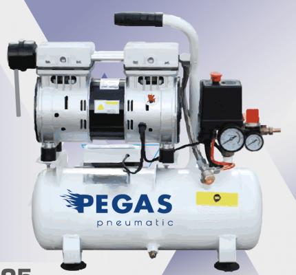 Бесшумный компрессор Pegas PG-600 безмасляный