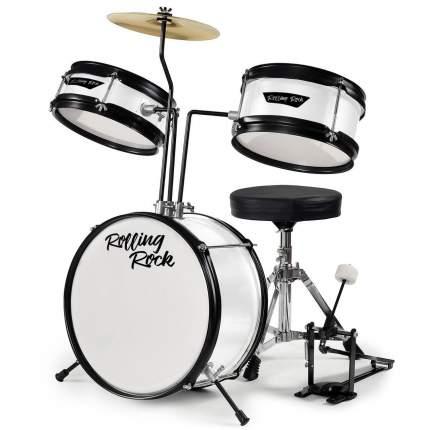Детская Ударная установка Rolling Rock Kids Jr-1288wh - Цвет - Белый