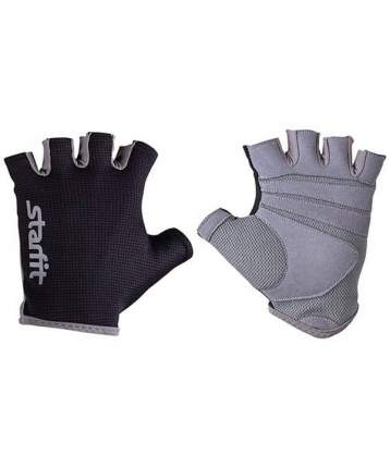Перчатки для тяжелой атлетики StarFit SU-127, черный/серый, M