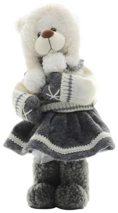 Фигурка новогодняя Maxitoys Мишутка в шапке и юбке