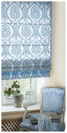 Римская штора Эскар Дамаск 160х120 цвет белый; синий