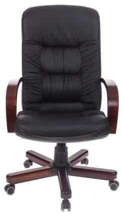 Кресло руководителя Бюрократ T-9908/WALNUT, черный/коричневый