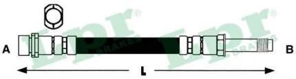 Шланг тормозной системы Lpr 6T48056