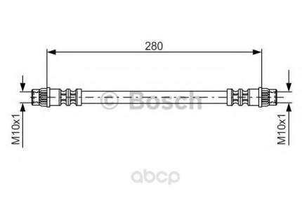 Шланг тормозной Bosch 1987476517