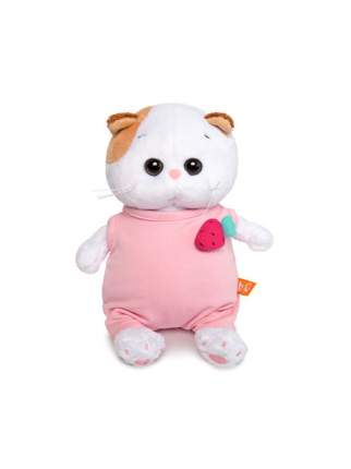 Мягкая игрушка BUDI BASA Ли-Ли Baby в розовом комбинезоне с клубничкой 20 см