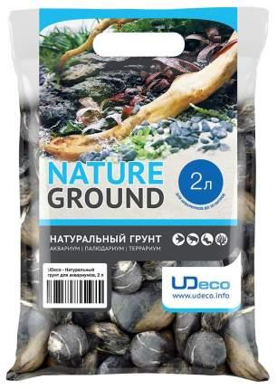 Грунт для аквариума UDeco Stream Black 30-50 мм 2 л