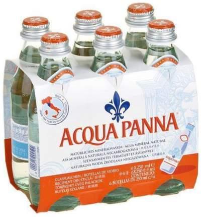Вода минеральная Acqua Panna столовая негазированная стекло 6 шт  по 0.25 л