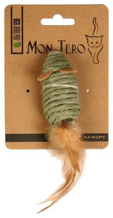 Игрушка для кошек Mon Tero Мышь с перьями 51495