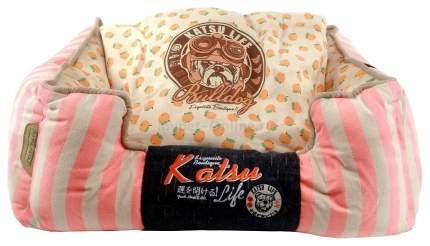 Лежак для животных Katsu Селяви М, 800 г, 55х45х23см, светло-розовый