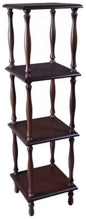 Этажерка Мебелик П 8 2089 34х34х123 см, средне-коричневый