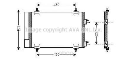 Радиатор охлаждения двигателя Ava CNA5230D