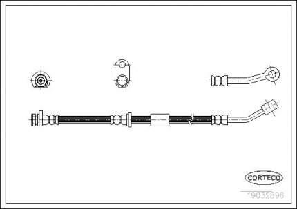 Шланг тормозной системы CORTECO 19032896