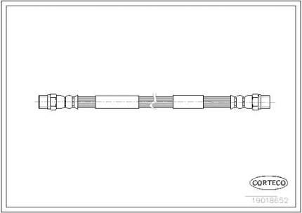Шланг тормозной CORTECO 19018652