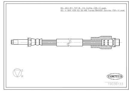 Шланг тормозной системы CORTECO 19036133