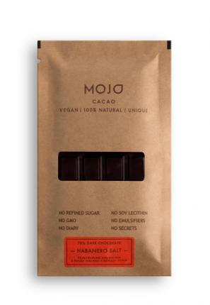 Горький шоколад 70% Mojo Cacao с перцем Habanero и морской солью habanero salt