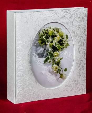 Свадебный магнитный альбом на 100 страниц 23х28 см, цветочный узор