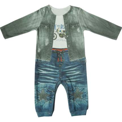 Комбинезон Папитто для мальчика Fashion Jeans 552-01 р.24-80