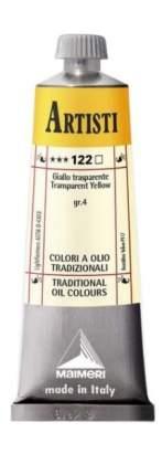 Масляная краска Maimeri Artisti 122 желтый прозрачный 60 мл