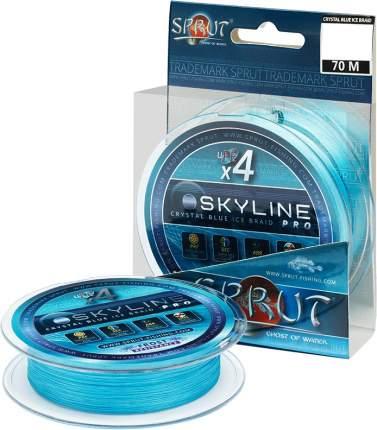 Леска плетеная Sprut Skyline Ice Braid Pro x4 Crystal Blue 70 м, 0,14 мм, 11,25 кг