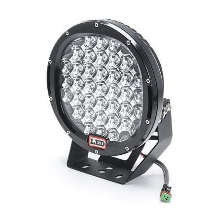 Дополнительная светодиодная фара прожектор 185 ватт дальнего света круглая черная FGB-185