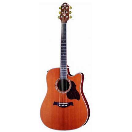 Электроакустическая гитара шестиструнная CRAFTER DE-7 N  Чехол