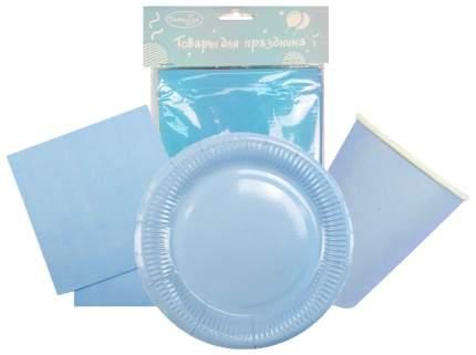 Набор одноразовой посуды  Патибум Light Blue