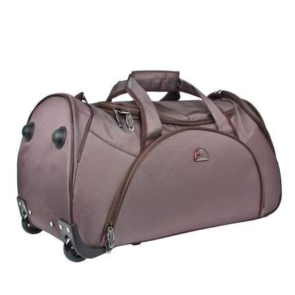 Дорожная сумка Polar 7037.5 коричневая 33 x 65 x 35
