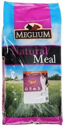 Сухой корм для кошек Meglium Adult, индейка, курица, 15кг