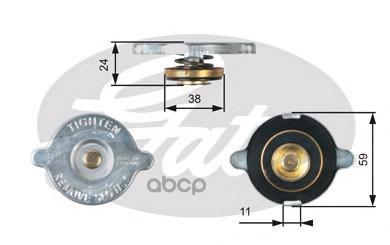 Крышка системы охлаждения Gates RC107