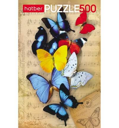 Пазл Hatber Бабочки, 500 элементов 500ПЗ2_10877
