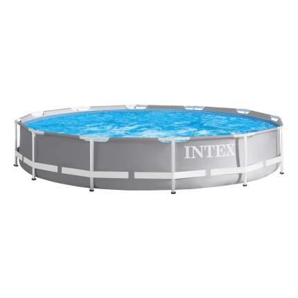 Бассейн  каркасный intex prism frame pool, 366 х 76 см + фильтр-насос, арт, 26712, Интекс