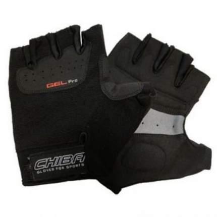 Перчатки для фитнеса мужские Chiba Gel Pro, черные, M INT