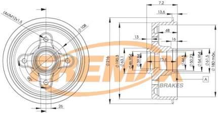 Тормозной барабан FREMAX BD-6628