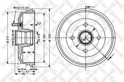 Тормозной барабан STELLOX 6025-2529-SX