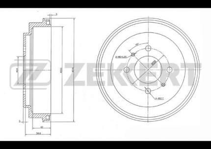 Тормозной барабан ZEKKERT BS-5538